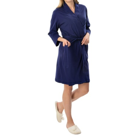 Jockey Replenishment Wrap Robe - 3/4 Sleeve (For Women)