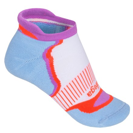 Balega Enduro 5 No-Show Running Socks - Below the Ankle (For Women) in Cool Blue/Lilac/Coral - Closeouts