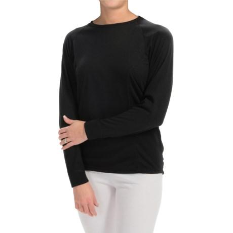 Wickers Bi-Wick Shirt - Crew Neck, Long Sleeve (For Women)