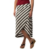 Specially made Striped Cross Hip Skirt - 3/4 Length (For Women)