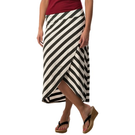 Specially made Striped Cross Hip Skirt - 3/4 Length (For Women)