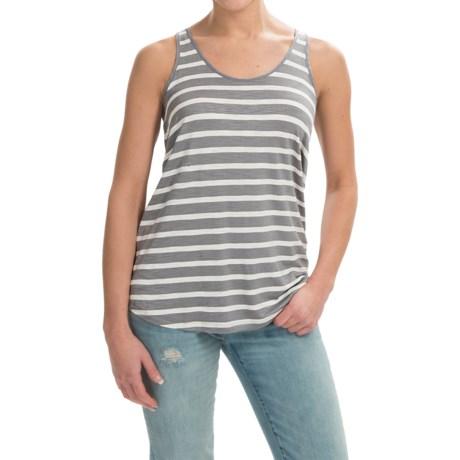 Slub-Knit Tank Top - Keyhole Back (For Women)