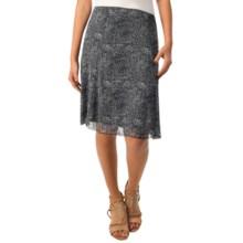 Flowy Print Mesh Skirt (For Women) in Navy - 2nds