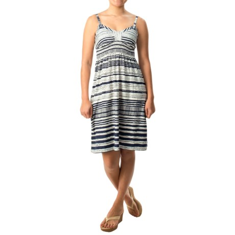 Printed Spaghetti Strap Dress - Cotton-Modal (For Women)