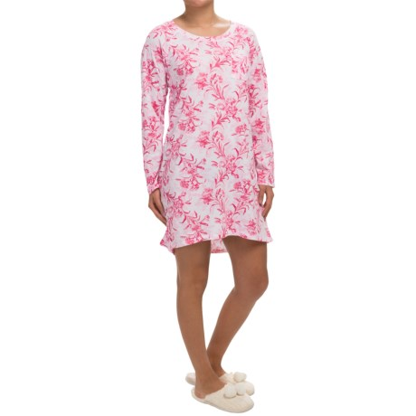 Carole Hochman Floral Print Nightgown - Long Sleeve (For Women)