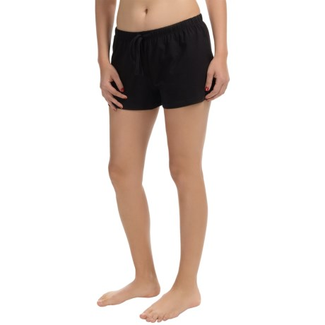 St. Eve Drawstring Boxer Shorts - Stretch Cotton (For Women)