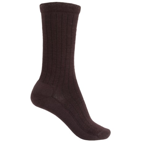 Woolrich Solid Dress Socks - Merino Wool, Crew (For Women)
