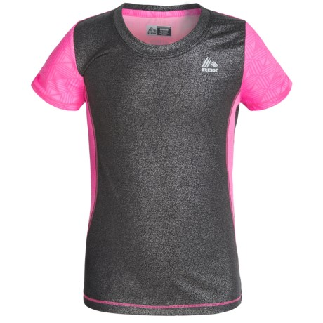 RBX Cut-and-Sew High-Performance Shirt - Short Sleeve (For Little and Big Girls)