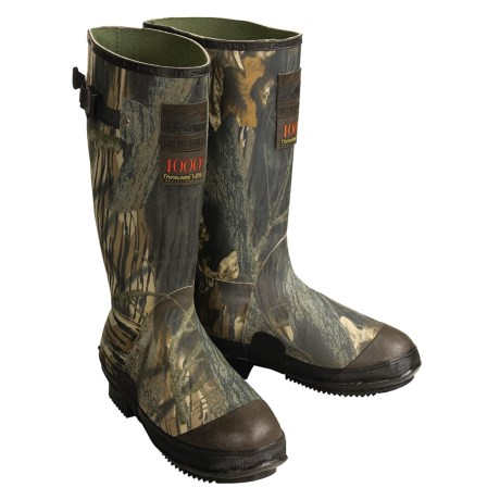 Itasca Swampwalker Rubber Hunting Boots - Waterproof Insulated, Mossy Oak® (For Men)
