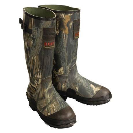 Itasca Swampwalker Rubber Hunting Boots - Waterproof Insulated, Mossy Oak® (For Men)