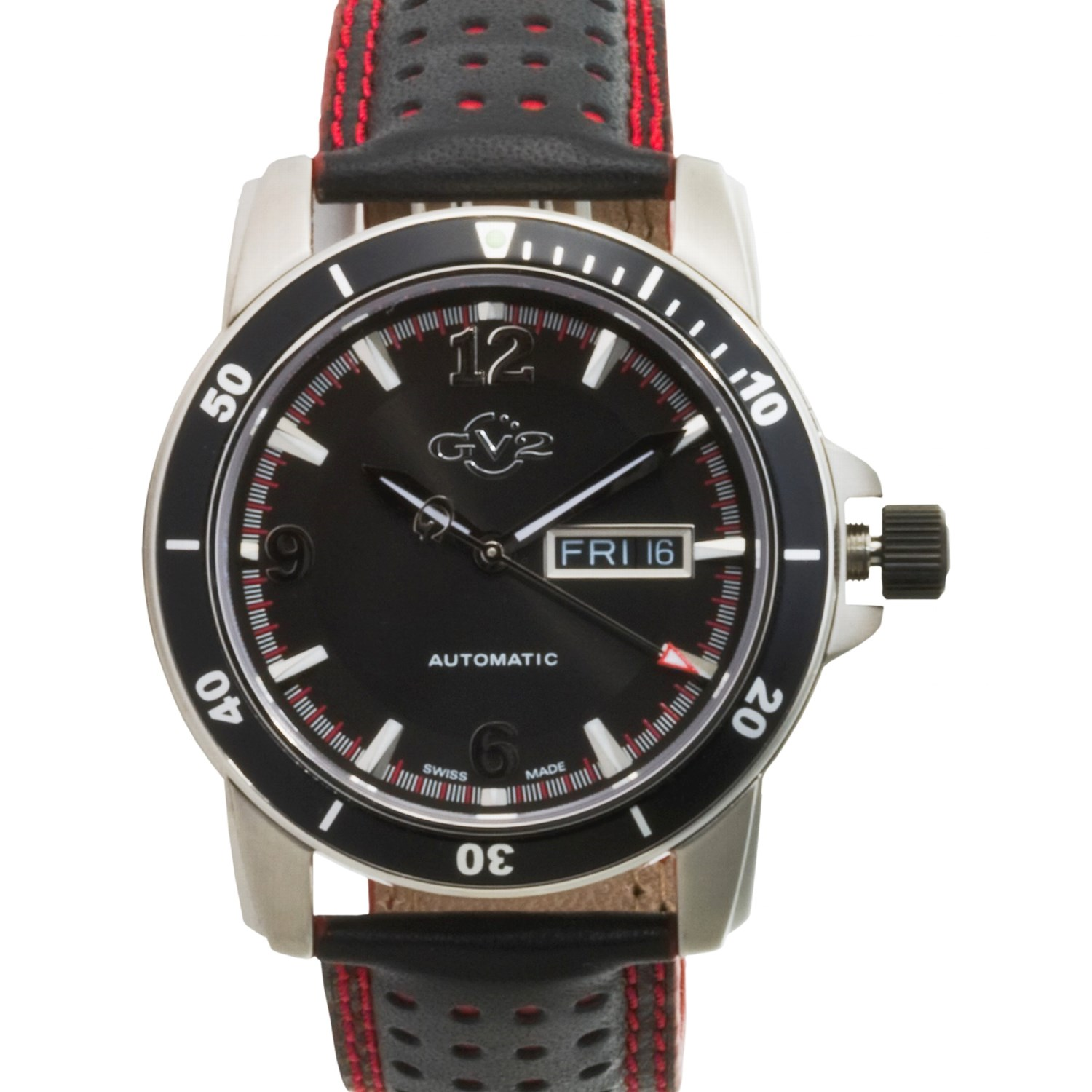 Gevril gv2 explorer automatic watch with leather band 1171e save 67 for Gevril watches