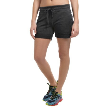 90 Degree by Reflex Ribbed Lounge Shorts (For Women)