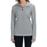 Active Pullover Shirt - Zip Neck, Long Sleeve (For Women)