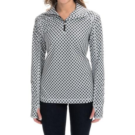 Active Pullover Shirt - Zip Neck, Long Sleeve (For Women)