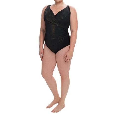 Longitude Gold Rush One-Piece Swimsuit (For Plus Size Women)