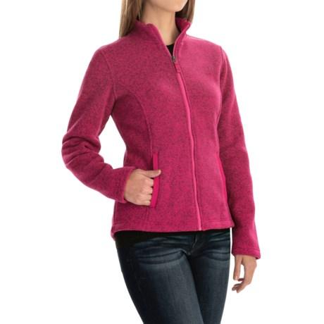 Sweater-Knit Fleece Jacket (For Women)