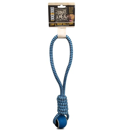Dog For Dog Loop and Swoop Ball and Rope Dog Toy