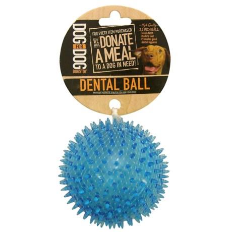 "Dog For Dog Dental Ball Dog Toy - 3.5"""