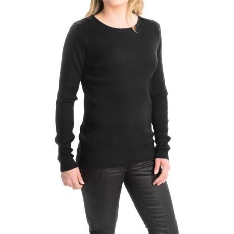 FDJ French Dressing Rib-Knit Fine Gauge Sweater - Crew Neck (For Women)