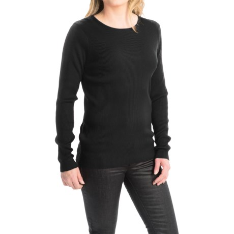 FDJ French Dressing Rib-Knit Fine Gauge Sweater - Crew Neck (For Women)