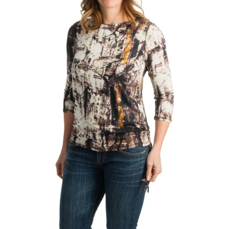 FDJ French Dressing City Park Print Shirt - 3/4 Sleeve (For Women)