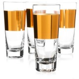 ACME Party Box Copper Band Cocktail Glasses - Set of 4