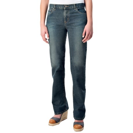 Mid-Rise Stretch Jeans - Bootcut (For Women)