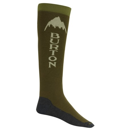 Burton Emblem Snowboard Socks - Over the Calf (For Men)