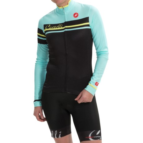 Castelli Girone Cycling Jersey - Full Zip, Long Sleeve (For Women)