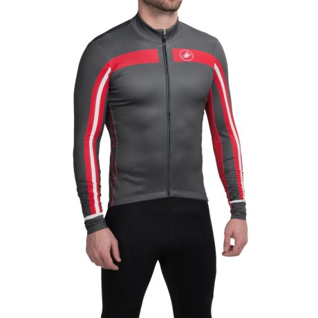 Castelli Free 3 Cycling Jersey - Full Zip, Long Sleeve (For Men)