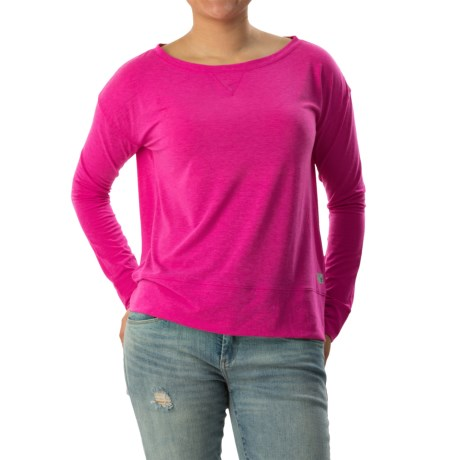 Banded-Hem Jersey Shirt - Long Sleeve (For Women)