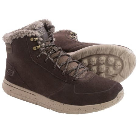 Skechers GOwalk City Sierra Suede Boots (For Men)