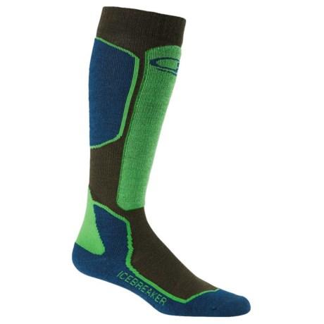 Icebreaker Ski + Lite Socks - Merino Wool Blend, Over the Calf (For Men)