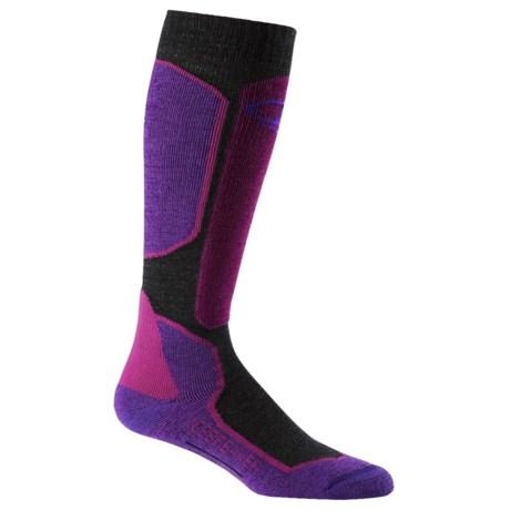 Icebreaker Ski + Lite Socks - Merino Wool Blend, Over the Calf (For Women)