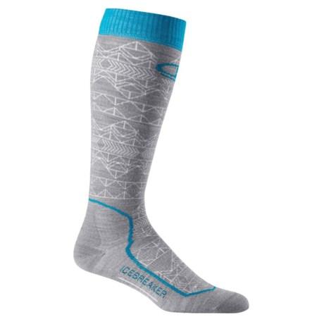 Icebreaker Ski+ Ultralight Mountain Icon Socks - Merino Wool, Over the Calf (For Women)