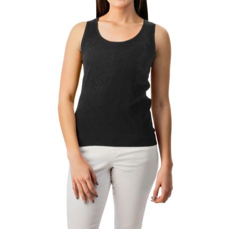 August Silk Shell Tank Top - Viscose-Silk (For Women)