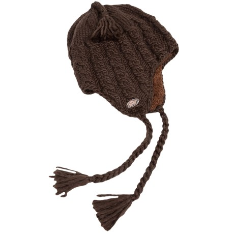 Turtle Fur Merino Wool Boomerang Hat - Ear Flaps, Fully Lined (For Men and Women)