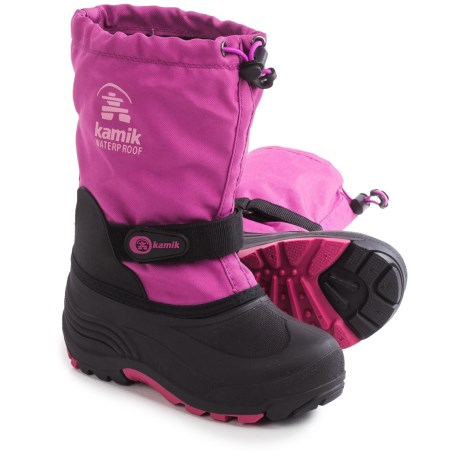 Kamik Waterbug5  Pac Boots - Waterproof, Wide Width, Insulated (For Little and Big Kids)