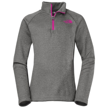 The North Face HW Agave Fleece Jacket - Zip Neck (For Little and Big Girls)