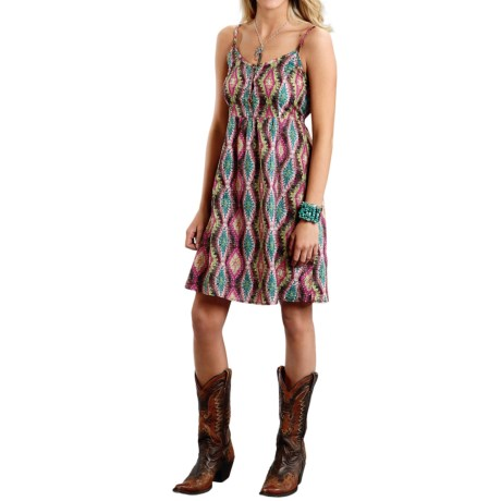 Roper Culture Club Aztec-Print Sun Dress - Sleeveless (For Women)