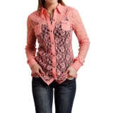 Roper Lace Button-Front Shirt - Long Sleeve (For Women)