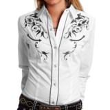 Roper Victorian Bracket Western Shirt - Snap Front, Long Sleeve (For Women)
