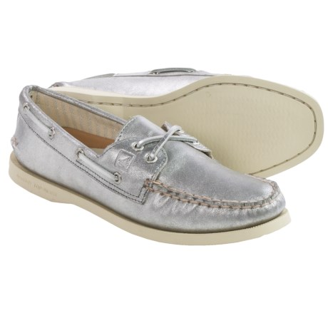 Sperry A/O Metallic Boat Shoes - Leather (For Women)
