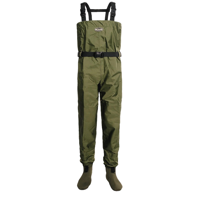 Columbia sportswear steelhead stockingfoot waders for men for Fly fishing waders reviews