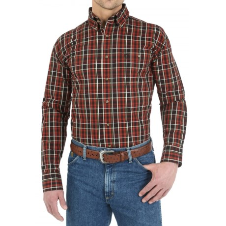Wrangler George Strait Collection Plaid Shirt - Button Front, Long Sleeve (For Men)
