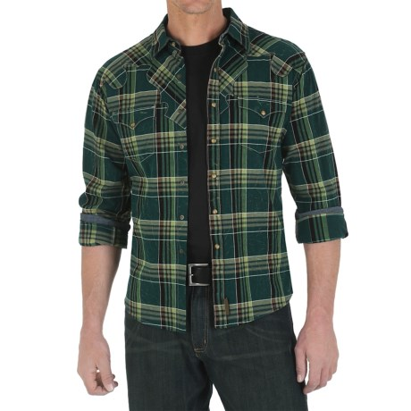 Wrangler Retro Plaid Shirt - Snap Front, Long Sleeve (For Men)
