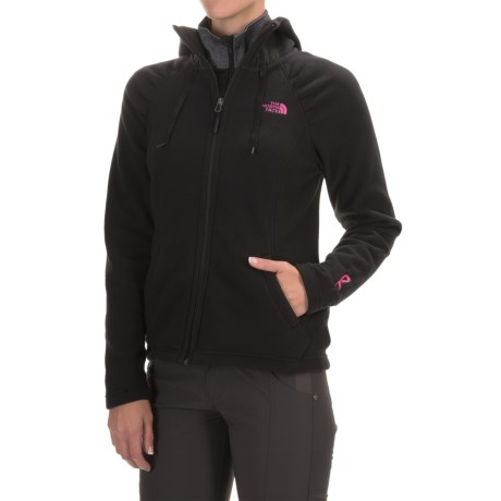 The North Face Pink Ribbon Mezzaluna Hoodie - Full Zip (For Women)
