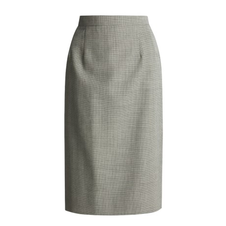 Hawksley & Wight Worsted Wool Slim Skirt - Mini-Houndstooth (For Women)