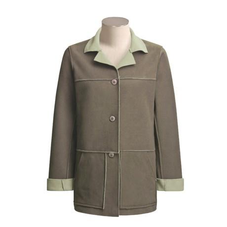 Sportif USA Arcadia Fleece Jacket - Reversible (For Women)