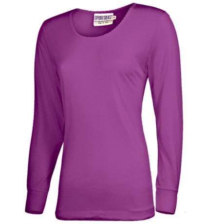 Terramar Sport Silk Long Underwear Top - Lightweight, Long Sleeve (For Women)